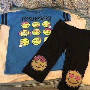 Justice emoji pajama set